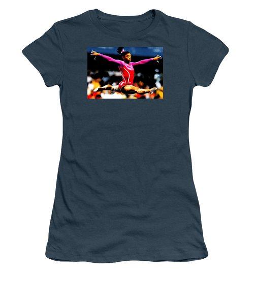 Simone Biles Women's T-Shirt (Junior Cut) by Brian Reaves