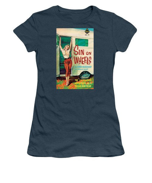 Sin On Wheels Women's T-Shirt (Junior Cut) by Paul Rader