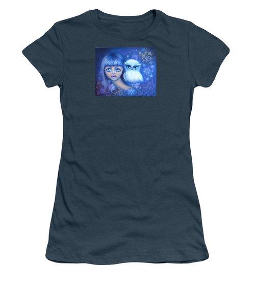 Snow Children Women's T-Shirt (Junior Cut) by Agata Lindquist