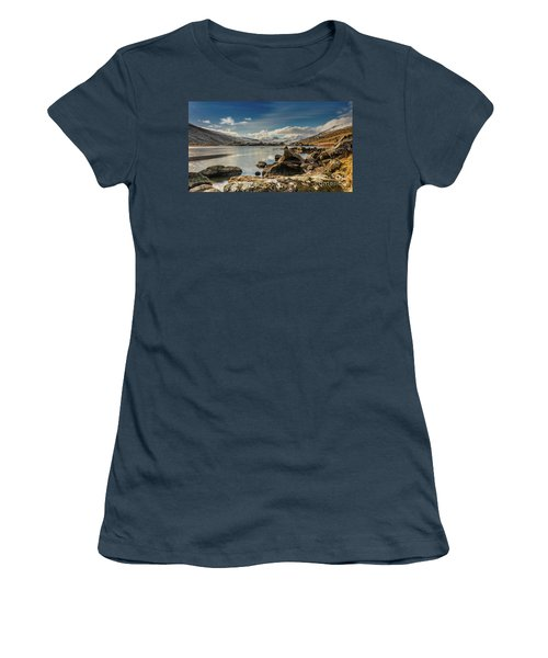 Women's T-Shirt (Junior Cut) featuring the photograph Snowdon From Llynnau Mymbyr by Adrian Evans