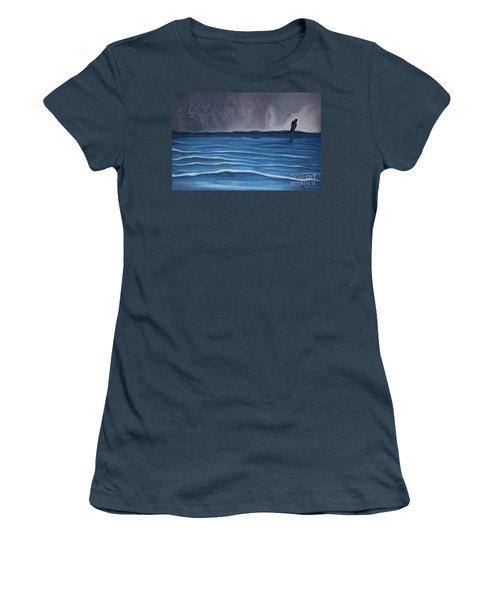 Solitude Women's T-Shirt (Junior Cut) by Michael  TMAD Finney