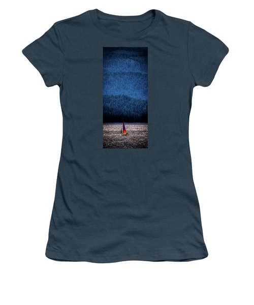 Women's T-Shirt (Junior Cut) featuring the photograph Solitude On Priest Lake by David Patterson