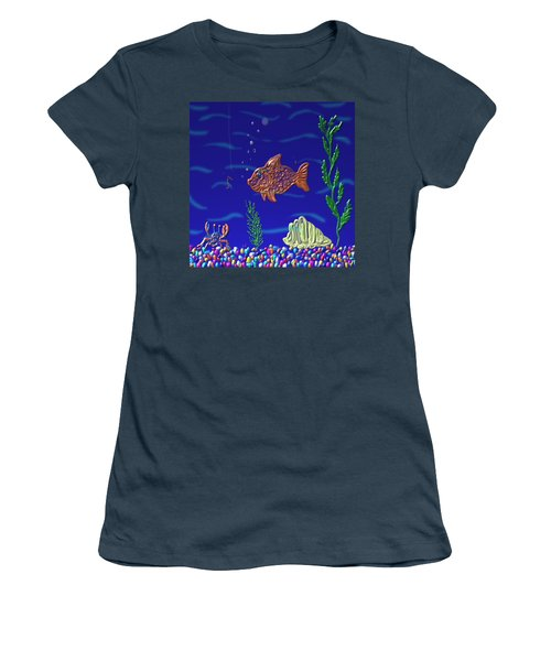 Something Fishy Women's T-Shirt (Junior Cut) by Kevin Caudill