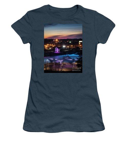Women's T-Shirt (Junior Cut) featuring the photograph South Bend River Sunrise by Brian Jones