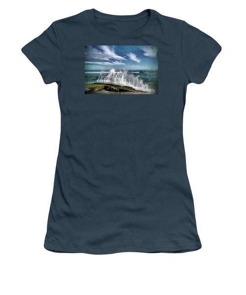 Splash Happy Women's T-Shirt (Junior Cut) by Kym Clarke