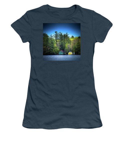 Spring Day At Old Forge Pond Women's T-Shirt (Junior Cut) by David Patterson