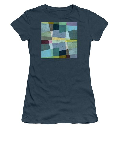 Women's T-Shirt (Junior Cut) featuring the digital art Squares And Shims by Michelle Calkins