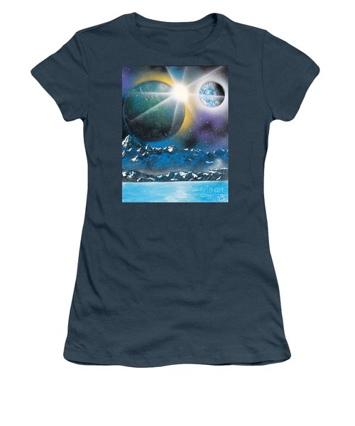 Women's T-Shirt (Junior Cut) featuring the painting Star Burst by Greg Moores