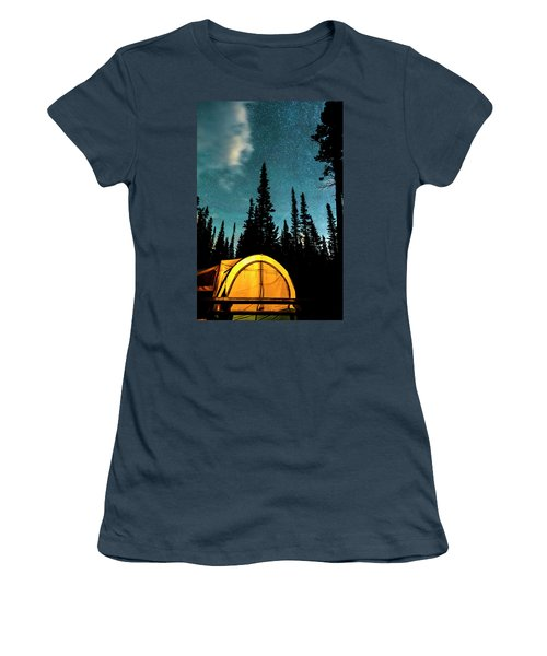 Women's T-Shirt (Junior Cut) featuring the photograph Star Camping by James BO Insogna