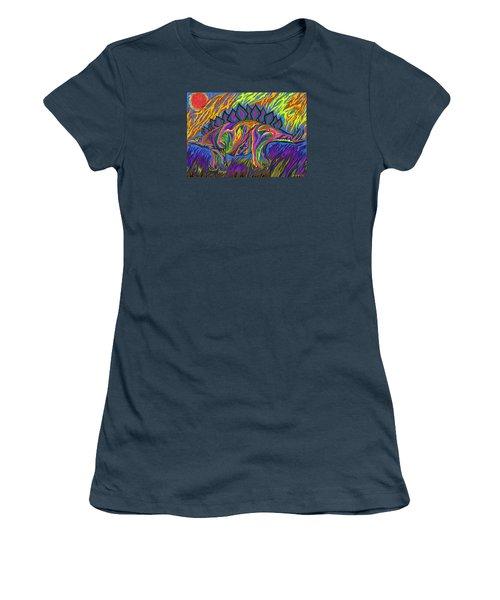 Stegasaurus Colorado Women's T-Shirt (Junior Cut) by Robert SORENSEN