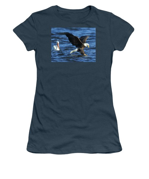 Women's T-Shirt (Junior Cut) featuring the photograph Stolen Dinner by Coby Cooper