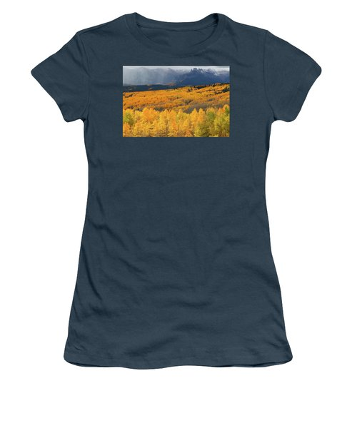 Storm At Ohio Pass During Autumn Women's T-Shirt (Junior Cut) by Jetson Nguyen