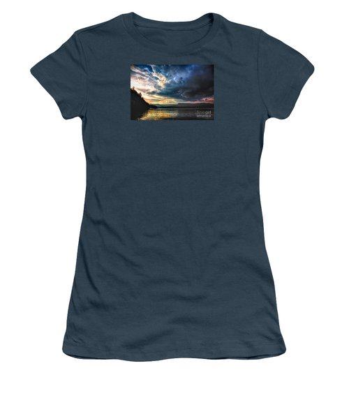 Summer At Lake James Women's T-Shirt (Junior Cut) by Robert Loe
