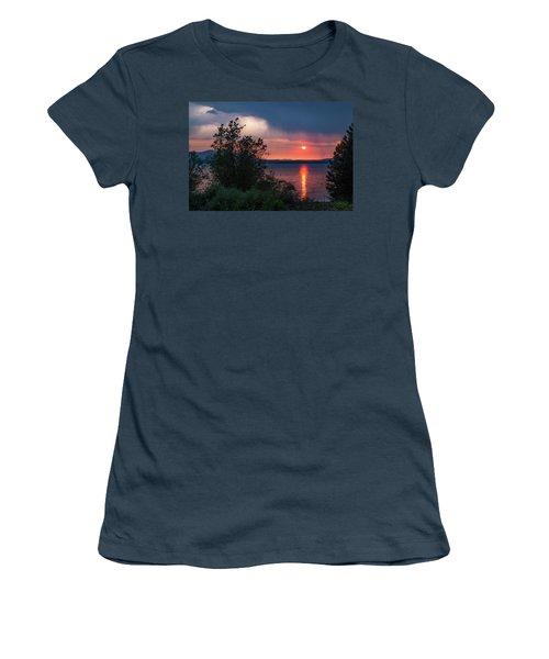 Women's T-Shirt (Junior Cut) featuring the photograph Summer Storm by Jan Davies