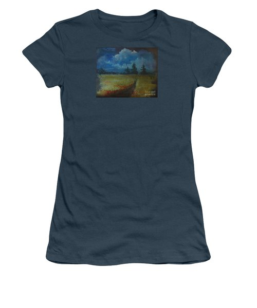Sunny Field Women's T-Shirt (Athletic Fit)