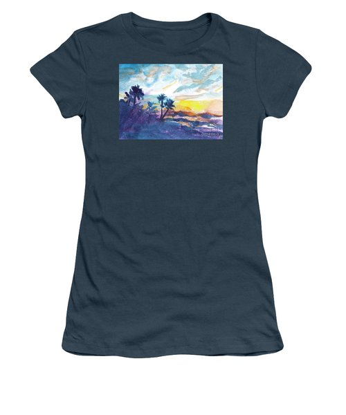 Sunset In Hawaii Women's T-Shirt (Junior Cut) by Jan Bennicoff