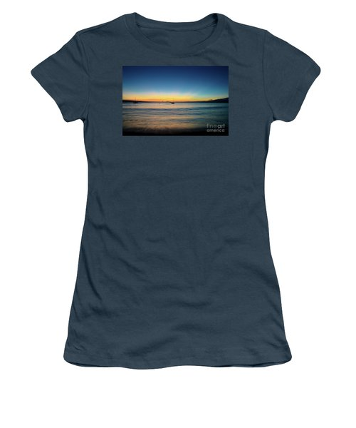 Sunset On Ka'anapali Beach Women's T-Shirt (Junior Cut) by Kelly Wade