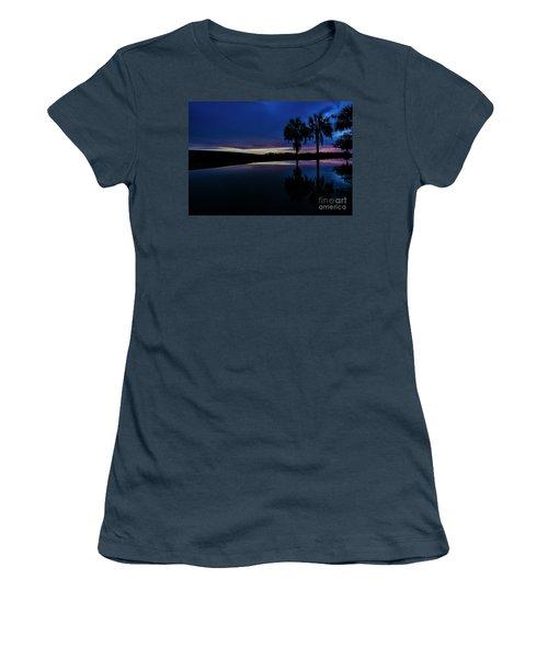 Women's T-Shirt (Junior Cut) featuring the photograph Sunset Palms by Brian Jones