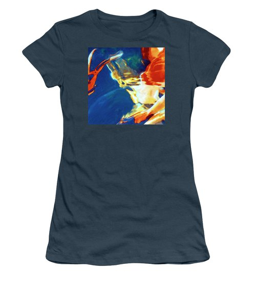 Women's T-Shirt (Junior Cut) featuring the painting Sunspot by Dominic Piperata