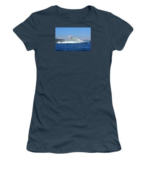 Women's T-Shirt (Junior Cut) featuring the photograph Super Yacht by Richard Patmore