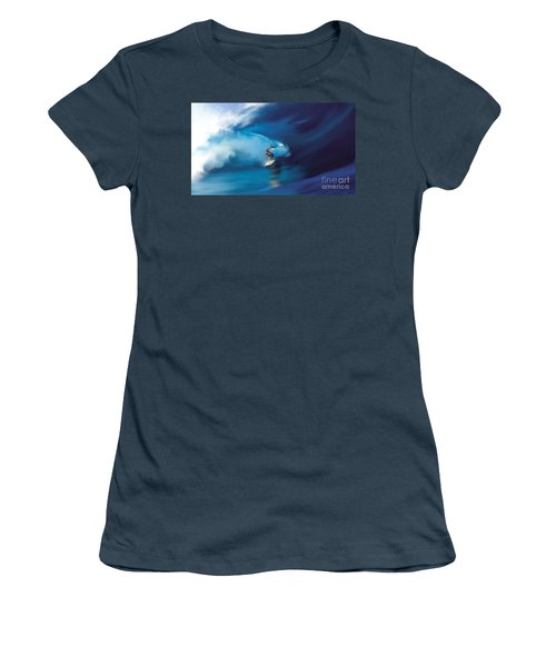 Women's T-Shirt (Junior Cut) featuring the digital art Surfers Playground by Anthony Fishburne