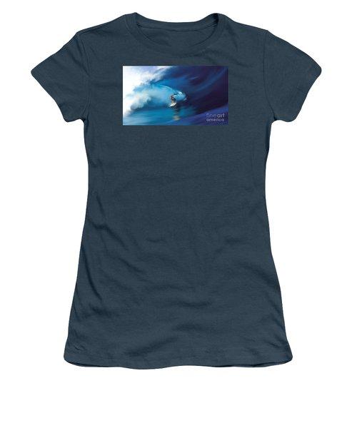 Surfers Playground Women's T-Shirt (Junior Cut) by Anthony Fishburne