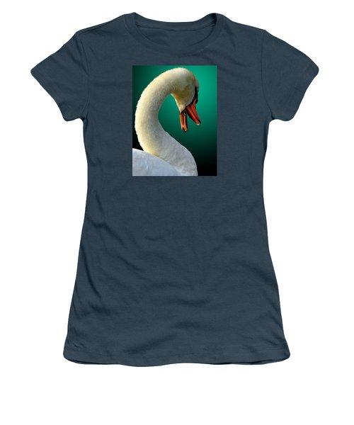 Women's T-Shirt (Junior Cut) featuring the photograph Swan Radiance by Brian Stevens