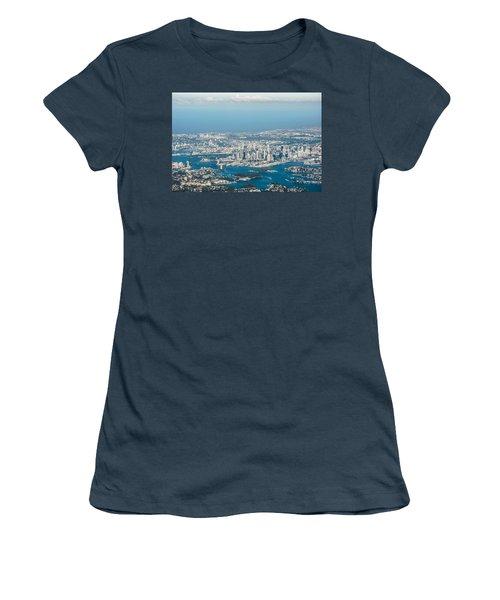 Sydney From The Air Women's T-Shirt (Junior Cut) by Parker Cunningham