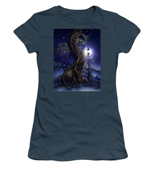 Sylvia And Her Lamp At Dusk Women's T-Shirt (Junior Cut) by Curtiss Shaffer