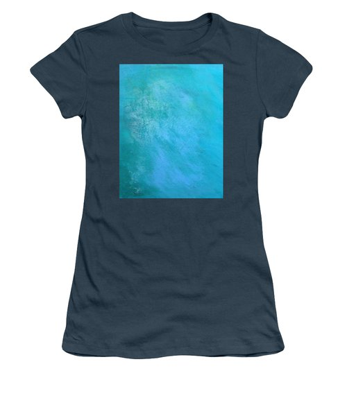 Women's T-Shirt (Junior Cut) featuring the painting Teal by Antonio Romero
