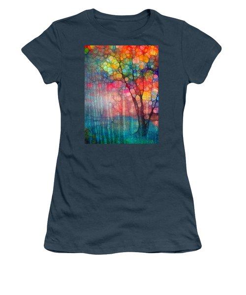 The Circus Tree Women's T-Shirt (Junior Cut) by Tara Turner