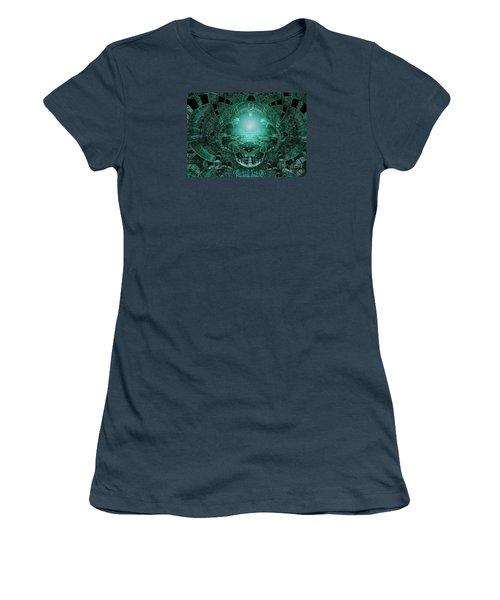 Women's T-Shirt (Junior Cut) featuring the digital art The Green Glow by Melissa Messick