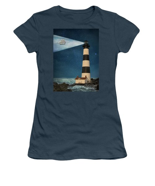 Women's T-Shirt (Junior Cut) featuring the photograph The Guiding Light by Juli Scalzi
