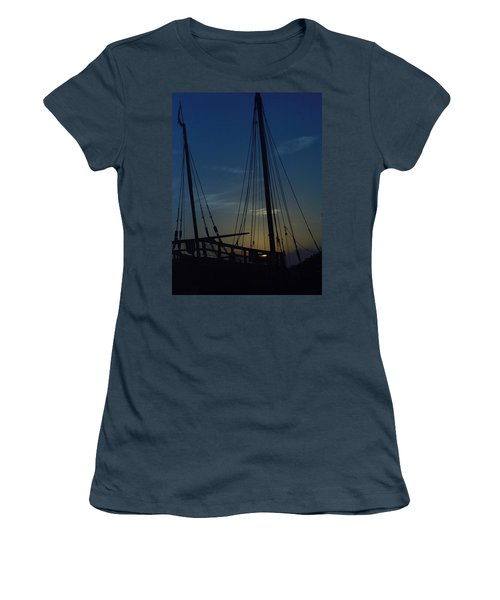 Women's T-Shirt (Junior Cut) featuring the photograph The Journey Began by John Glass