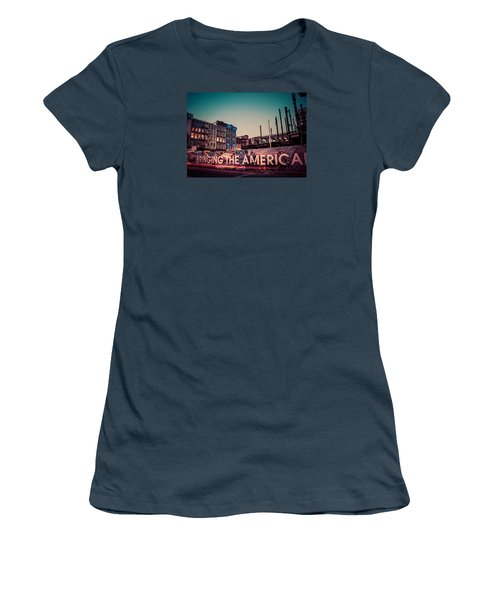 Women's T-Shirt (Junior Cut) featuring the photograph The Old And The New by Mark Dodd