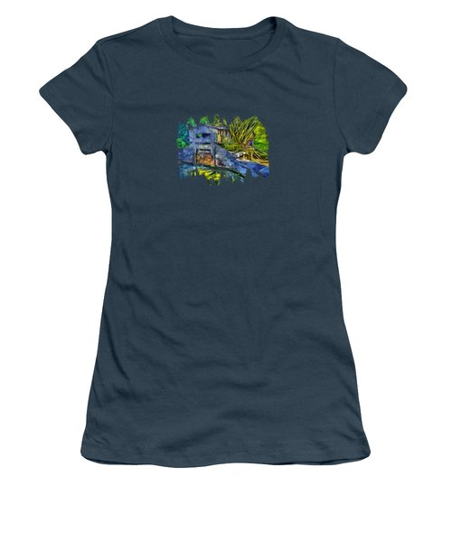Women's T-Shirt (Junior Cut) featuring the photograph Blakes Pond House by Thom Zehrfeld
