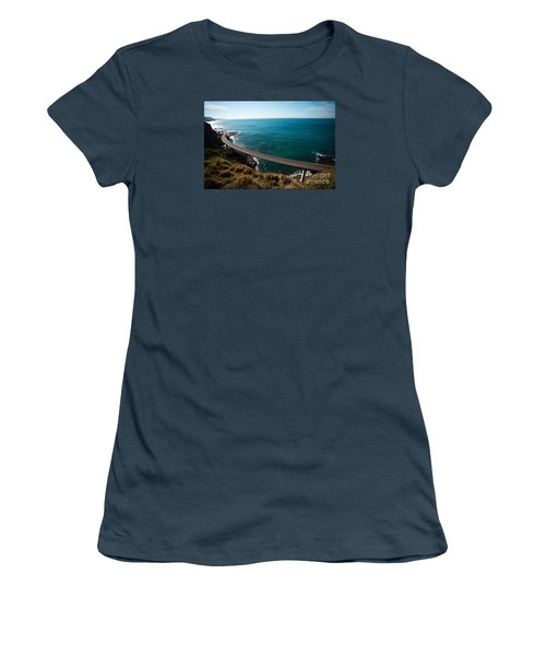 The Road Above The Sea Women's T-Shirt (Junior Cut) by Bev Conover