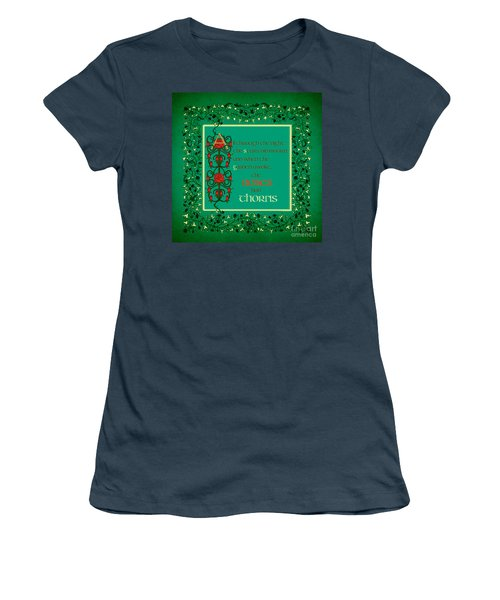 Women's T-Shirt (Junior Cut) featuring the digital art The Roses Had Thorns by Donna Huntriss