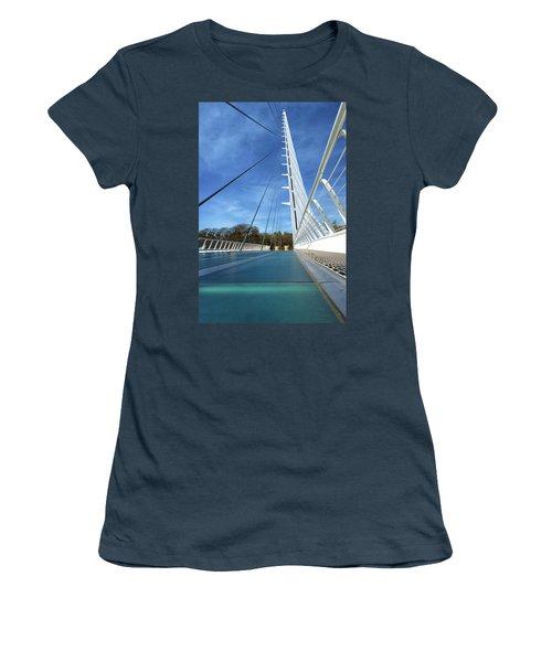 The Sundial Bridge Women's T-Shirt (Junior Cut) by James Eddy