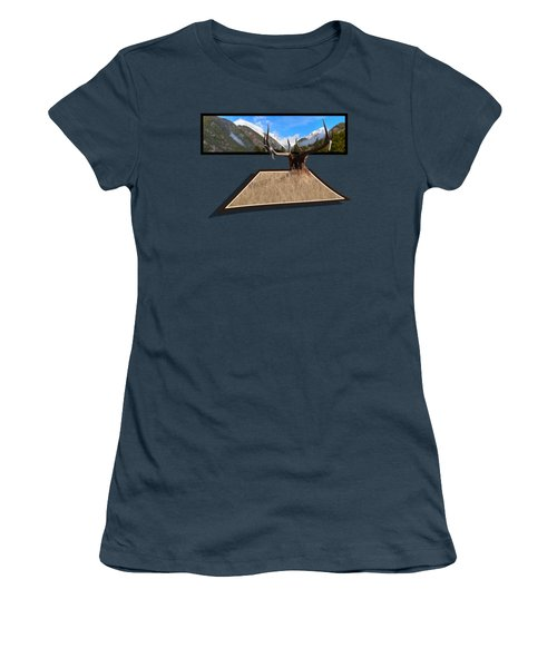Women's T-Shirt (Junior Cut) featuring the photograph The View by Shane Bechler