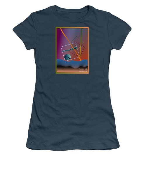 Women's T-Shirt (Junior Cut) featuring the digital art Thinking About The Future by Leo Symon