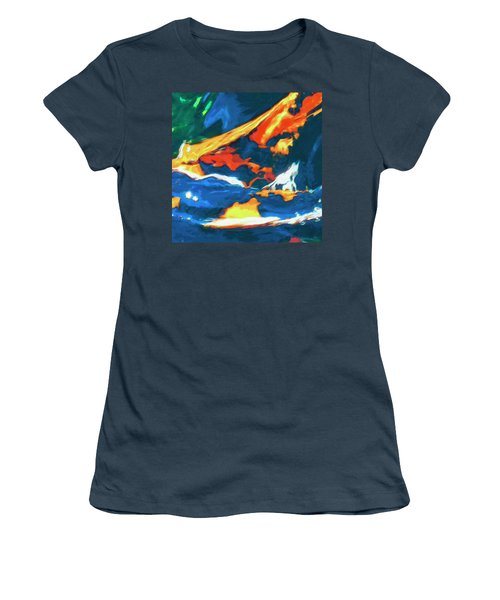 Women's T-Shirt (Junior Cut) featuring the painting Tidal Forces by Dominic Piperata