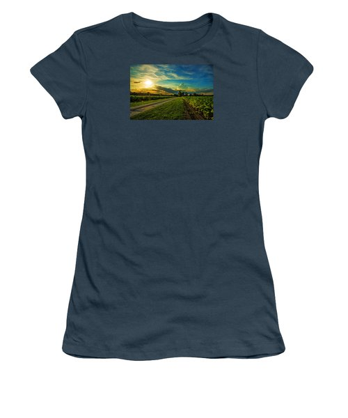 Tobacco Row Women's T-Shirt (Junior Cut) by John Harding