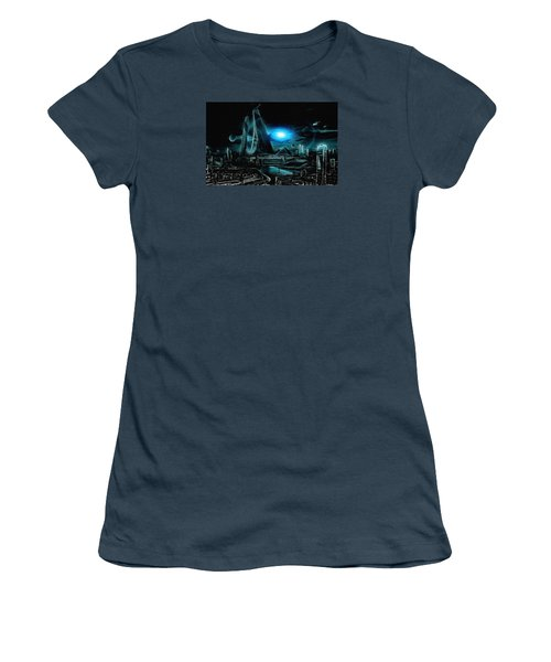 Tron Revisited Women's T-Shirt (Junior Cut) by Mario Carini