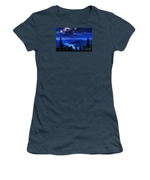 Twilight Thunderhead Women's T-Shirt (Junior Cut) by Thomas R Fletcher