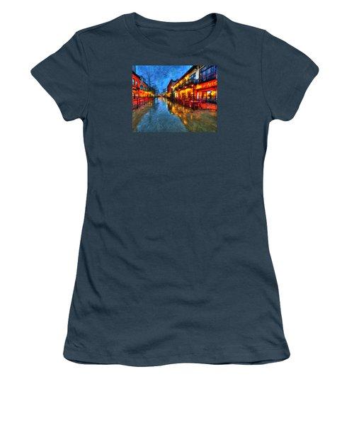 Urban Rain Reflections Women's T-Shirt (Junior Cut) by Andre Faubert