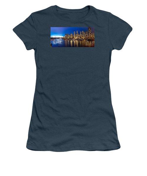 Vancouver Skyline Women's T-Shirt (Junior Cut) by Rod Jellison