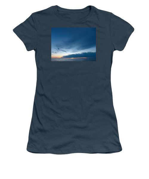 Women's T-Shirt (Junior Cut) featuring the photograph Variations Of Sunsets At Gulf Of Bothnia 4 by Jouko Lehto
