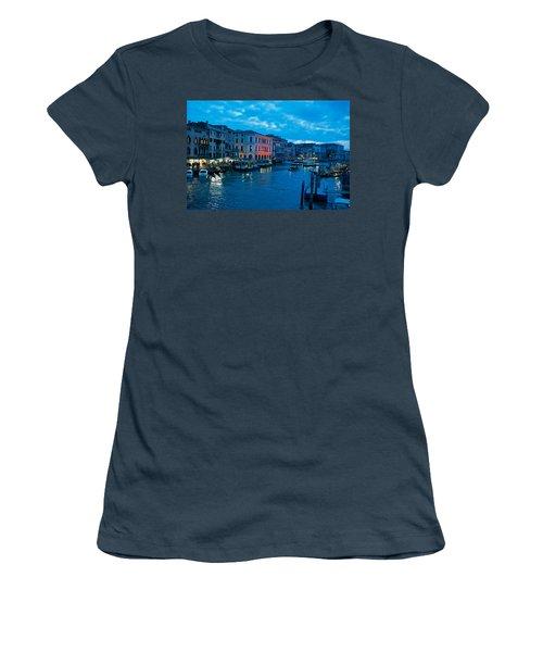 Women's T-Shirt (Junior Cut) featuring the photograph Venice Evening by Eric Tressler