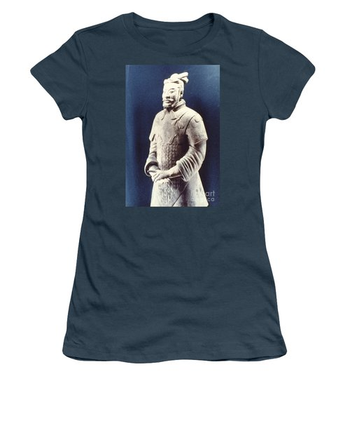 Women's T-Shirt (Junior Cut) featuring the photograph Warrior Of The Terracotta Army by Heiko Koehrer-Wagner